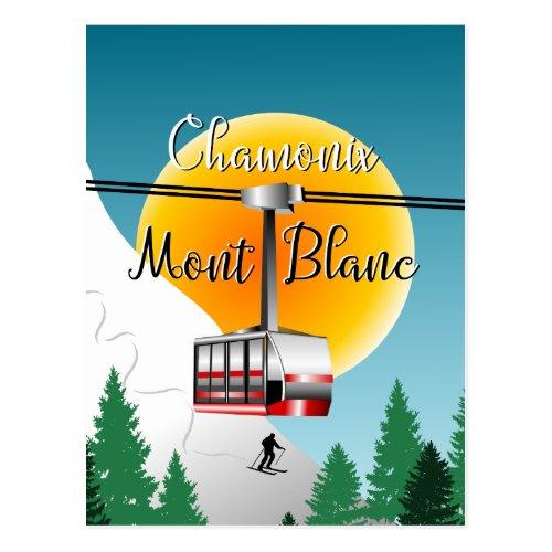Mont Blanc Chamonix vintage travel poster