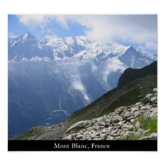 Mont Blanc, France Poster