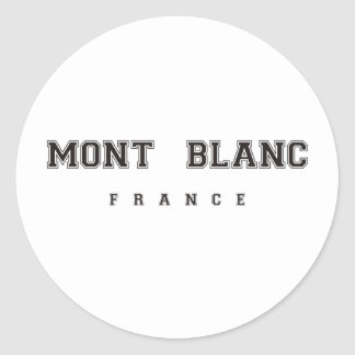 Mont Blanc France Classic Round Sticker