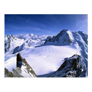 Mont Blanc, France Winter Postcard