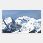 Mont Blanc Francia Rectangular Pegatinas
