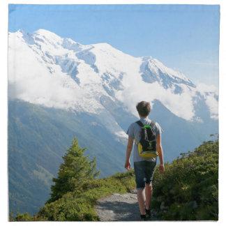 Mont Blanc Francia Servilleta Imprimida