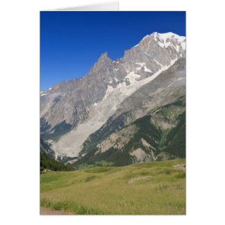 mont Blanc from Ferret valley, Italy Card
