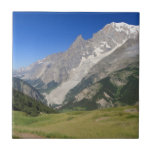 mont Blanc from Ferret valley, Italy Ceramic Tile