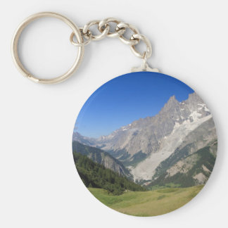 mont Blanc from Ferret valley, Italy Keychain
