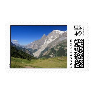 mont Blanc from Ferret valley, Italy Stamps
