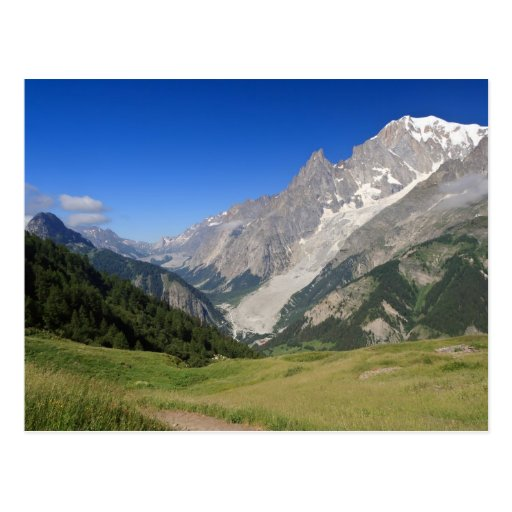 mont Blanc from Ferret valley, Italy Postcard