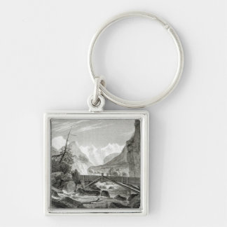 Mont Blanc from the Baths of St. Didier Keychain