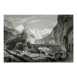 Mont Blanc from the Baths of St. Didier Poster