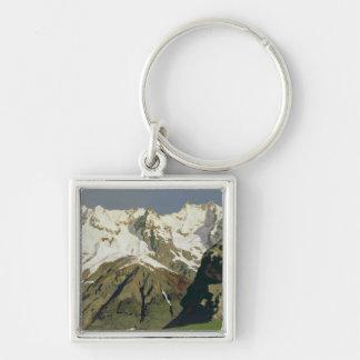 Mont Blanc Mountains, 1897 Keychain