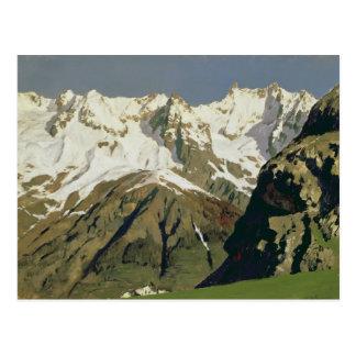 Mont Blanc Mountains, 1897 Postcard