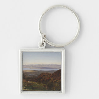 Mont-Blanc seen from Saint-Cergues, 1869 Keychain