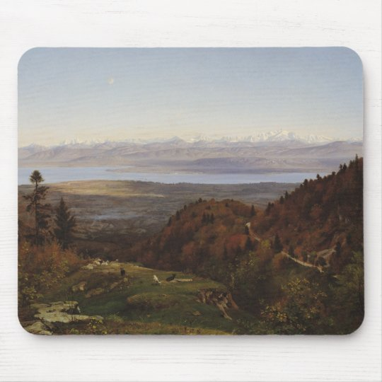 Mont-Blanc seen from Saint-Cergues, 1869 Mouse Pad