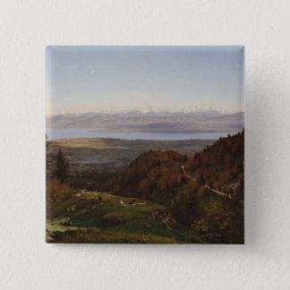 Mont-Blanc seen from Saint-Cergues, 1869 Pinback Button