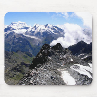 Mont Fort with mountains and glaciers Mouse Pad