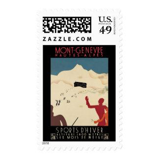 Mont-Genevre Hautes-Alpes Postage Stamp