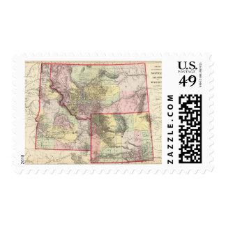 Mont, Ida, Wyo Stamps