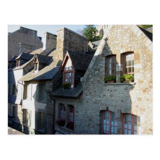 Mont-Saint-Michel. Houses Postcard