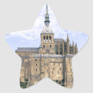 Mont Saint Michel Normandy France Island Abbey Star Sticker