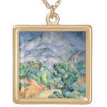 Mont Sainte-Victoire, 1900 Colgante Cuadrado