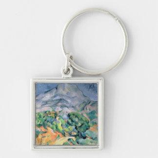 Mont Sainte-Victoire, 1900 Llavero Cuadrado Plateado