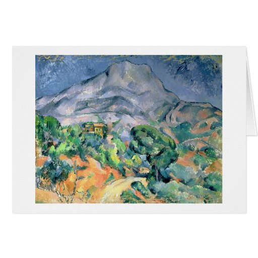 Mont Sainte-Victoire, 1900 Tarjeta De Felicitación
