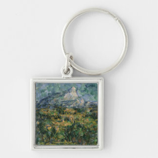 Mont Sainte-Victoire, 1904-05 Silver-Colored Square Keychain