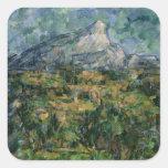 Mont Sainte-Victoire, 1904-05 Square Stickers