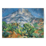 Mont Sainte Victoire Above the Tholonet by Cezanne Greeting Cards