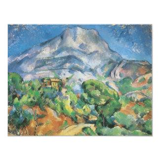 "Mont Sainte Victoire Above the Tholonet by Cezanne 4.25"" X 5.5"" Invitation Card"