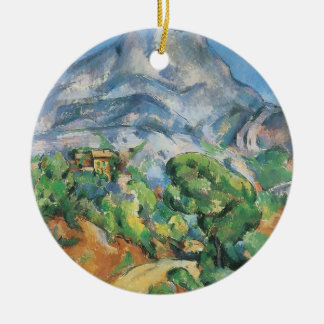 Mont Sainte Victoire Above the Tholonet by Cezanne Christmas Tree Ornament