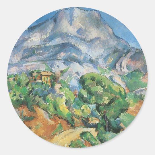 Mont Sainte Victoire Above Tholonet, Paul Cezanne Classic Round Sticker