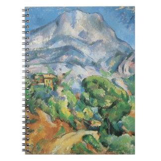 Mont Sainte Victoire Above Tholonet, Paul Cezanne Spiral Notebook