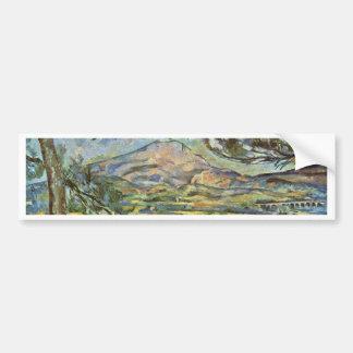 Mont Sainte-Victoire By Paul Cézanne (Best Quality Car Bumper Sticker