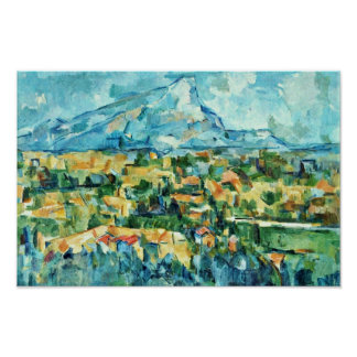 Mont Sainte-Victoire By Paul Cézanne (Best Quality Poster