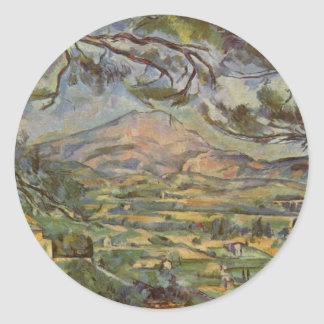 Mont Sainte-Victoire by Paul Cézanne Classic Round Sticker