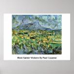 Mont Sainte-Victoire By Paul Cezanne Poster