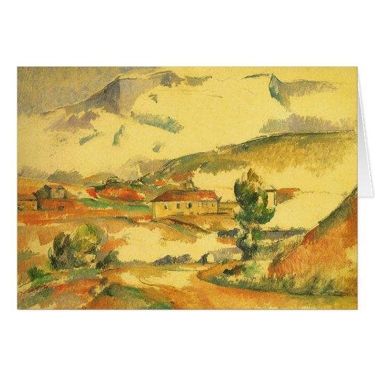 Mont Sainte Victoire by Paul Cezanne, Vintage Art Card