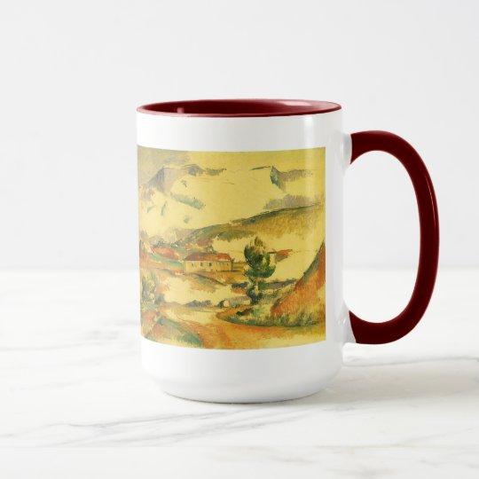 Mont Sainte Victoire by Paul Cezanne, Vintage Art Mug