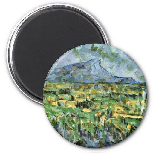 Mont Sainte-Victoire de Paul Cézanne (la mejor cal Imanes Para Frigoríficos