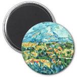 Mont Sainte-Victoire de Paul Cézanne (la mejor cal Imán Para Frigorifico