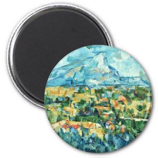 Mont Sainte-Victoire de Paul Cézanne (la mejor cal Imán Redondo 5 Cm