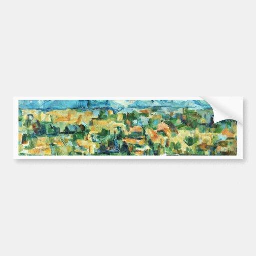 Mont Sainte-Victoire de Paul Cézanne (la mejor cal Pegatina Para Auto