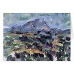 Mont Sainte-Victoire de Paul Cézanne (la mejor cal Tarjeta De Felicitación