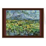 Mont Sainte-Victoire de Paul Cézanne (la mejor cal Felicitaciones