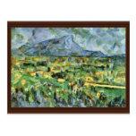 Mont Sainte-Victoire de Paul Cézanne (la mejor cal Postales