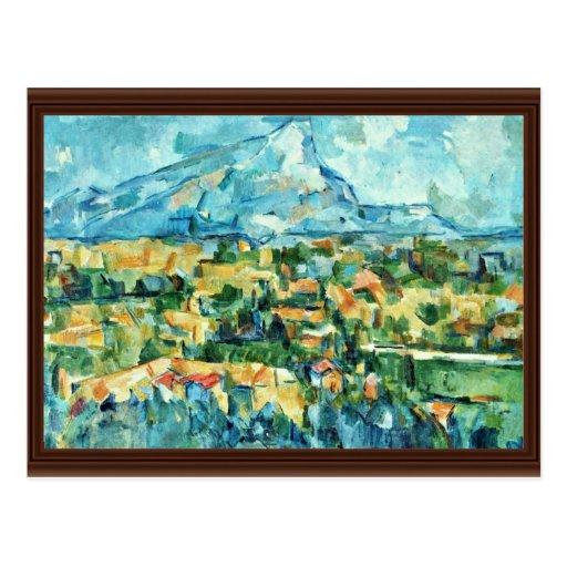 Mont Sainte-Victoire de Paul Cézanne (la mejor cal Postal
