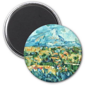 Mont Sainte-Victoire de Paul Cézanne (la mejor Imán Redondo 5 Cm