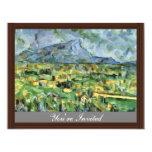 Mont Sainte-Victoire de Paul Cézanne (la mejor Invitación 10,8 X 13,9 Cm
