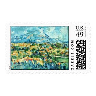 Mont Sainte-Victoire de Paul Cézanne (la mejor Sellos